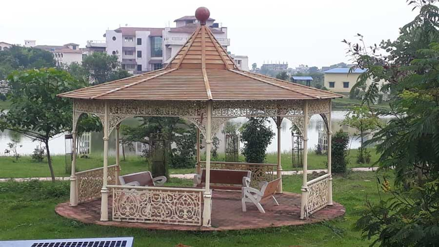 One of the gazebos
