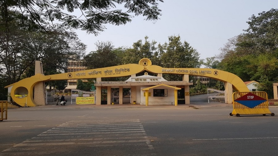 The entrance to Koylabavan, the BCCL headquarters in Dhanbad, on Sunday