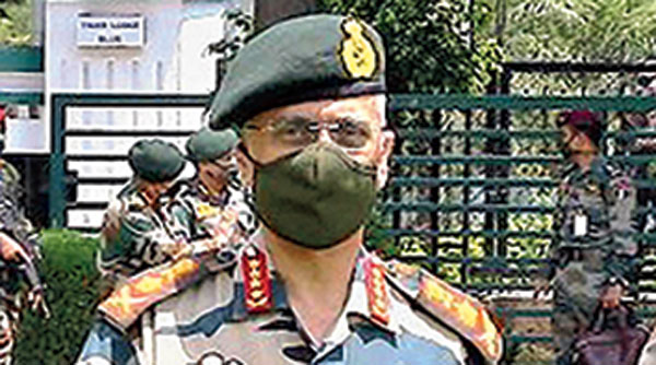 Army chief General MM Naravane in Jammu on Monday.