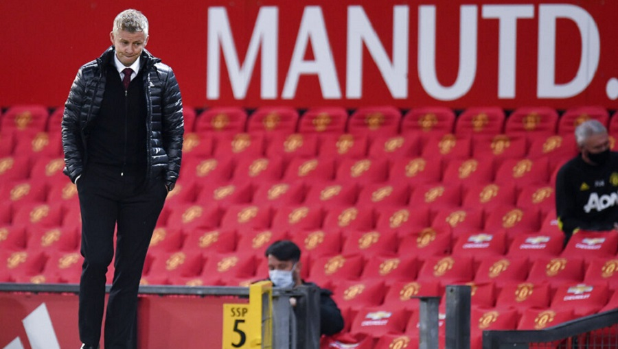Manchester United's manager Ole Gunnar Solskjaer after their EPL match against Southampton on Monday