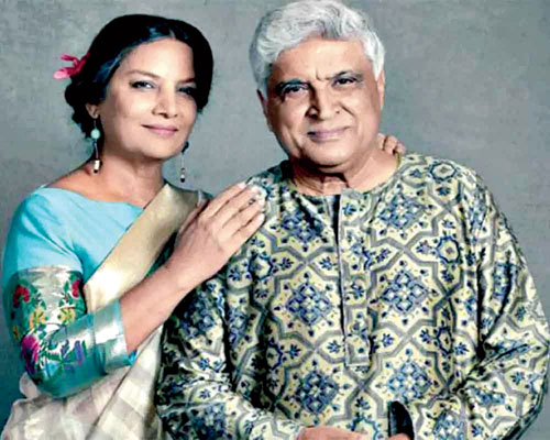With husband Javed Akhtar