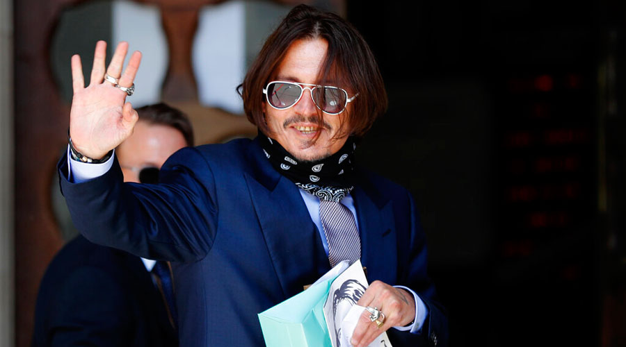 Actor Johnny Depp arrives at the High Court in London on Friday.