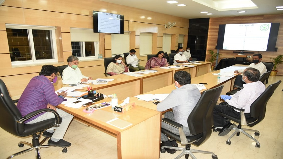 Chief minister Hemant Soren (extreme left) presiding over a meeting of the state sentence review board in Ranchi on Friday