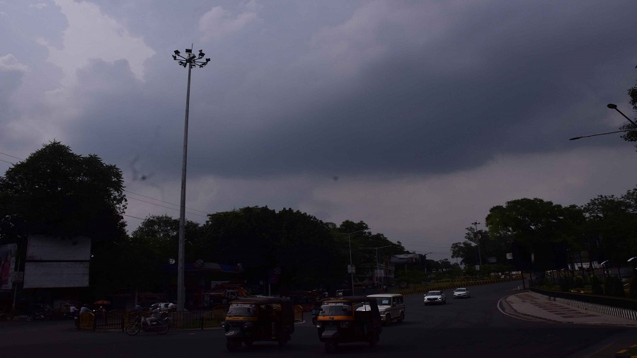 Cloud cover over Jamshedpur in Sunday