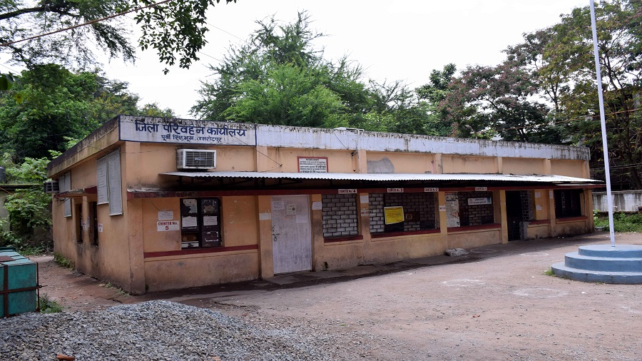 The district transport office in Sakchi, Jamshedpur, which was sealed last week
