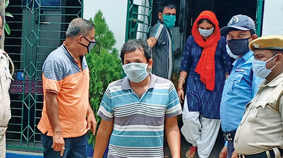 Block agriculture officer Ananda Saha at the Arambagh subdivisional court on Monday.