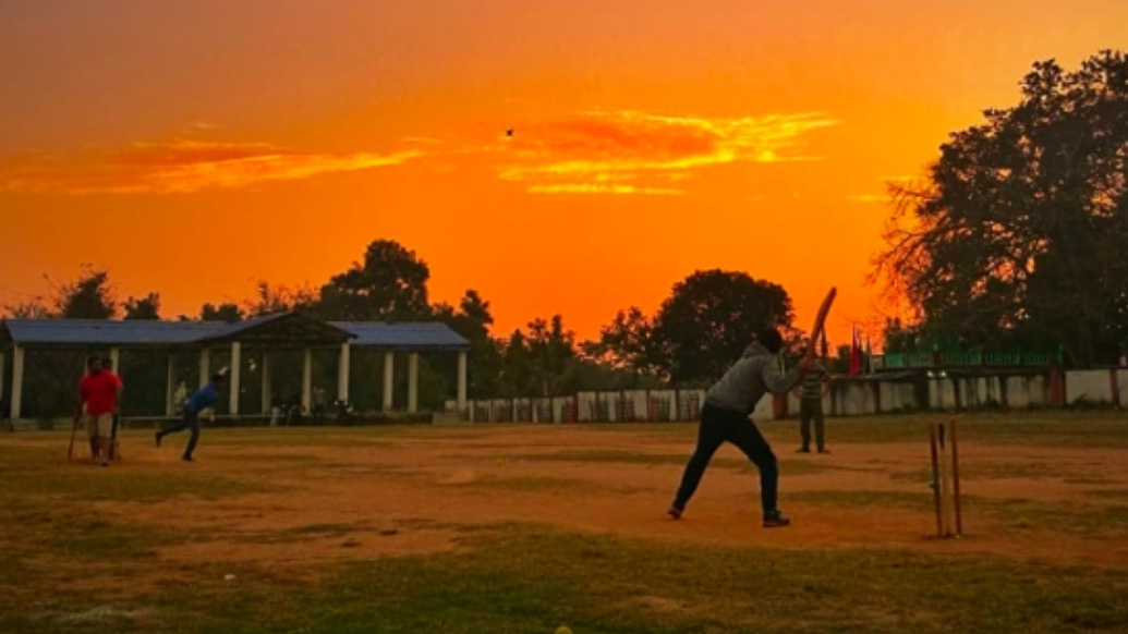 Children of Central Institute of Psychiatry take part in a cricket match during the lockdown in Ranchi.