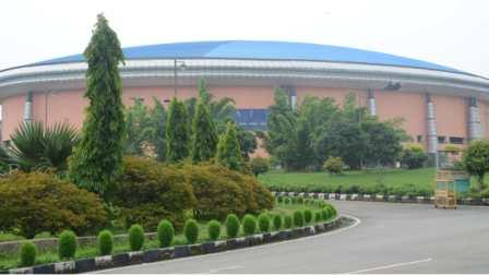 The mega sports complex in Hotwar, Ranchi, where the Tanabhagat Stadium has been identified as Covid care centre.