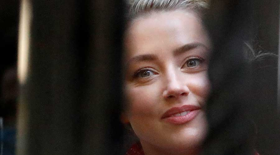 US Actress Amber Heard arrives at the High Court in London on Tuesday