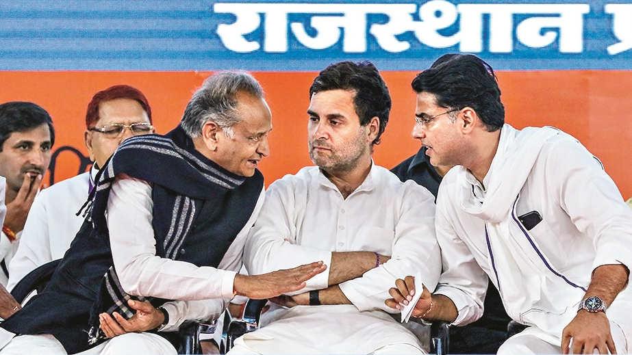 Ashok Gehlot, Rahul Gandhi and Sachin Pilot.