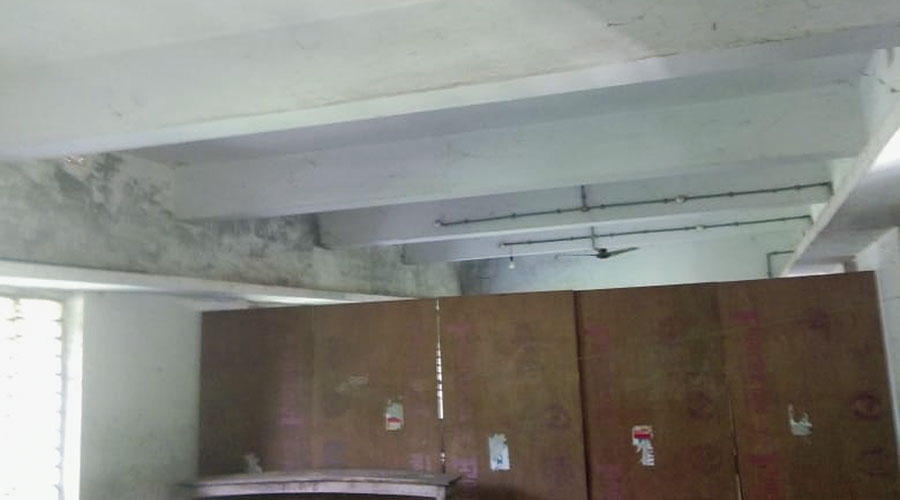 One of the classrooms from where a ceiling fan was stolen.