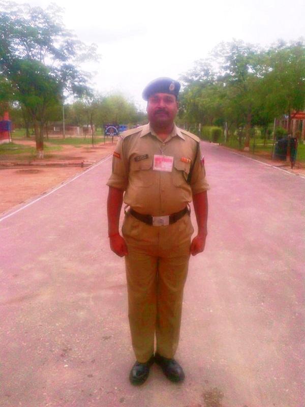 BSF jawan  Uday Shanker Sharma, who died at Bokaro General Hospital on Sunday.