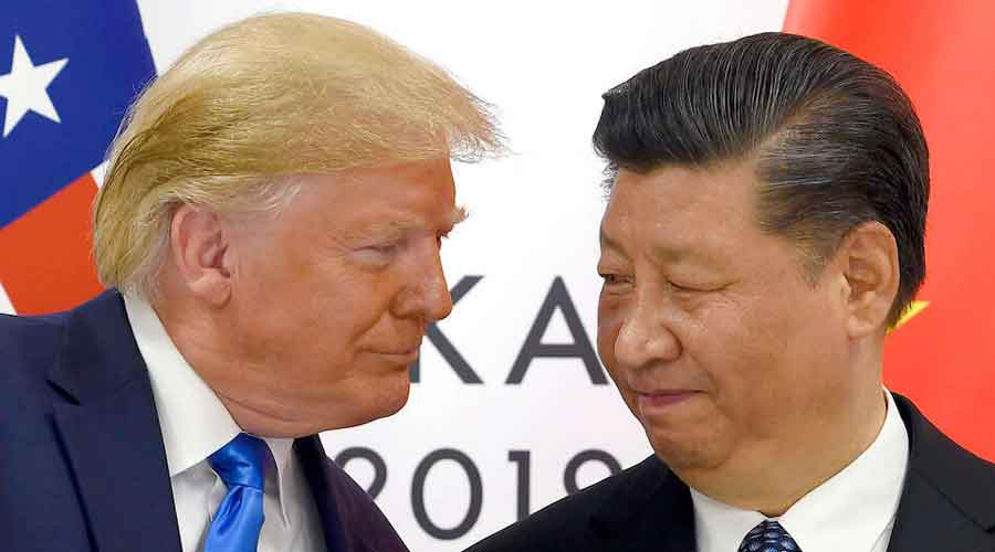 US President Donald Trump with his Chinese counterpart  Xi Jinping