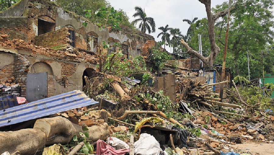 Destruction caused by Cyclone Amphan
