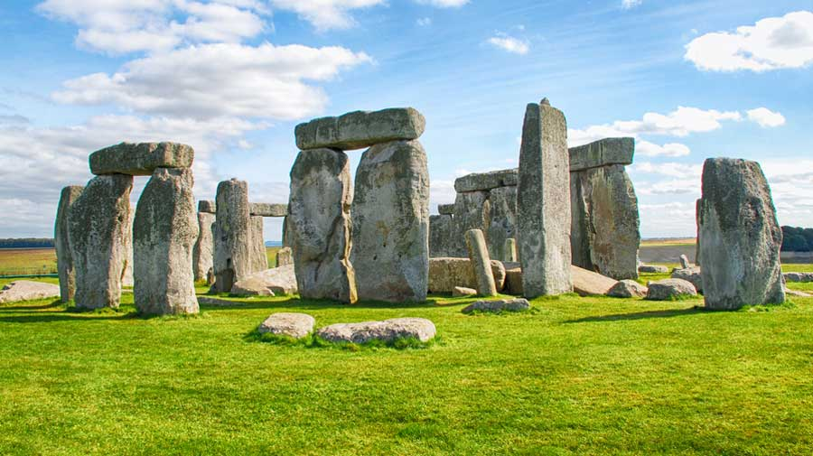 The Stonehenge monument in southern England.