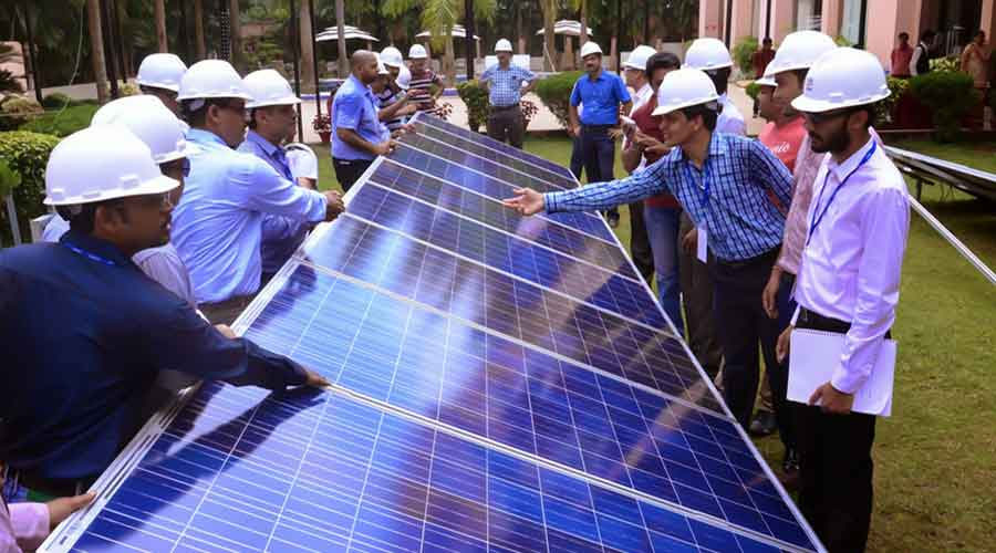 Union power and renewable energy minister R.K. Singh had recently told stakeholders that the basic customs duty of 15-20 per cent on solar equipment would be imposed in August, which would double in a year's time.