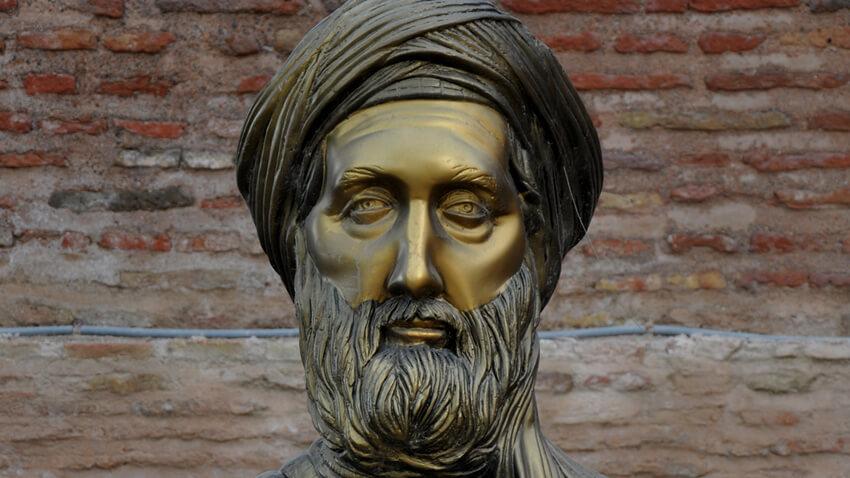 A bust of Ibn Khaldoun in Béjaïa, Algeria