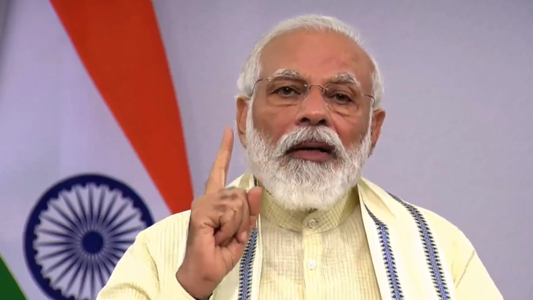 Prime Minister Narendra Modi during a televised address, in New Delhi, on Tuesday, June 30, 2020