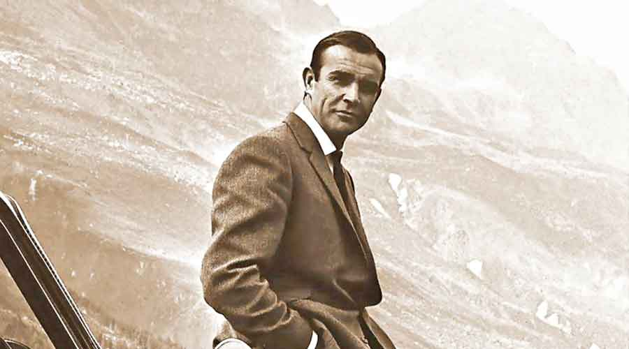 Sean Connery in the 1964 James Bond film Goldfinger
