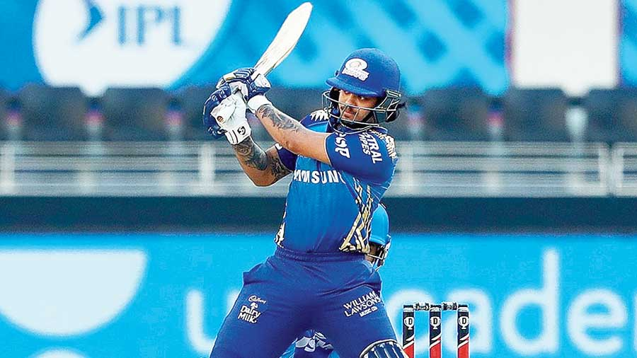 Ishan Kishan of Mumbai Indians on Saturday.