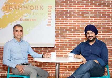 Asim Warsi (left), senior vice-president, Samsung India, and Mohandeep Singh, senior vice-president, mobile business, Samsung India.
