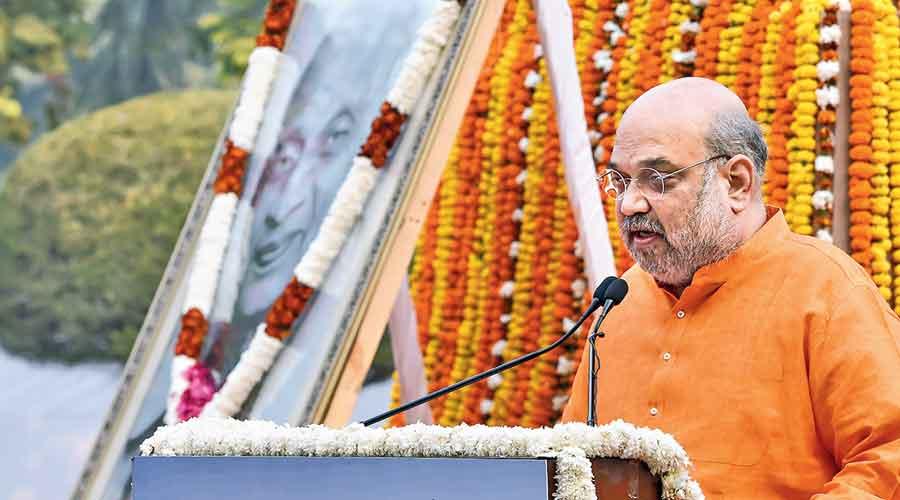 Amit Shah pays homage to  Sardar Vallabhbhai Patel on his birth anniversary in New Delhi on Saturday