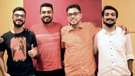 Nabarun, Debdeep, Anupam Roy and Soukarya.