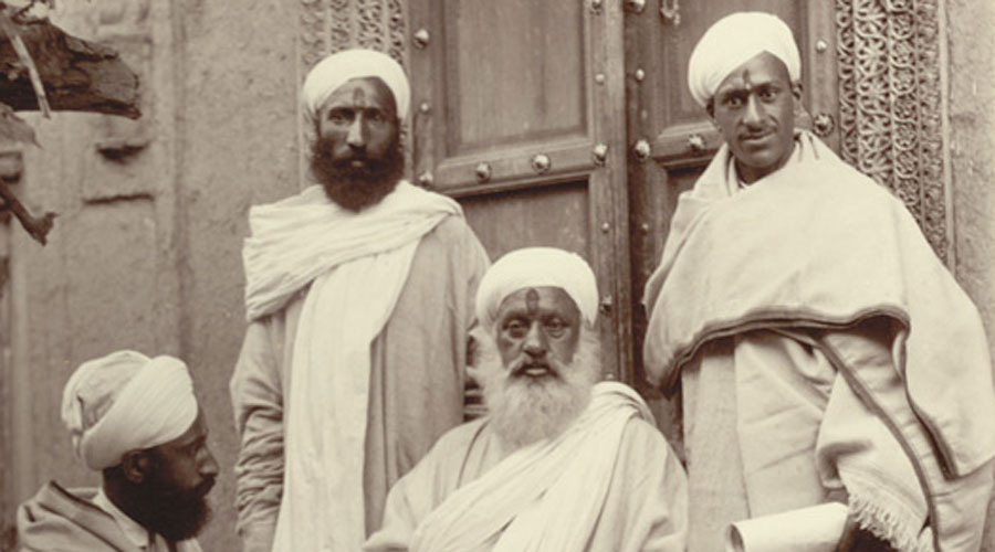 Kashmiri Pandits in a photograph from 1895