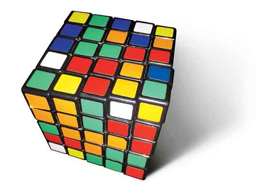 There's a 17x17x17 version. There are many variations and adaptations of the Cube: there are 2x2x2 Cubes, 4x4x4 Cubes, 5x5x5 Cubes, 6x6x6 Cubes, 7x7x7 Cubes, pocket Cubes, keychain Cubes, edible Cubes, electronic Cubes, tactile Cubes, MP3 playing Cubes, among others.