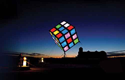 A recreation of the Cube called Groovik's Cube 40' Statue is featured at Burning Man festival in USA in 2009.