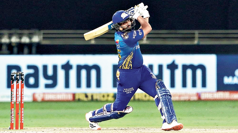Mumbai Indians captain Rohit Sharma during his 51-ball 68 run in the IPL final against Delhi Capitals in Dubai