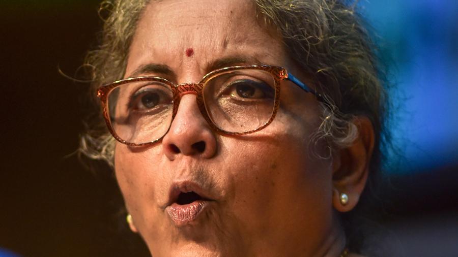 Union Finance Minister Nirmala Sitharaman speaks during a news conference in New Delhi, Thursday, Nov 12, 2020.