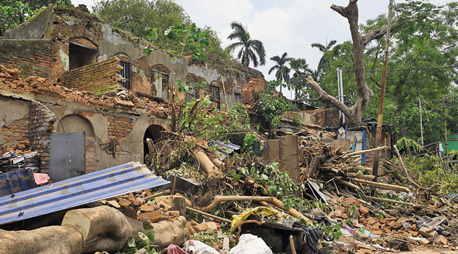 Destruction caused by Cyclone Amphan at Serampore in Hooghly district.