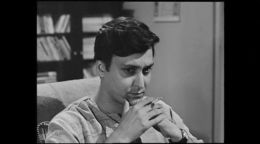 Feluda, deep in thought.