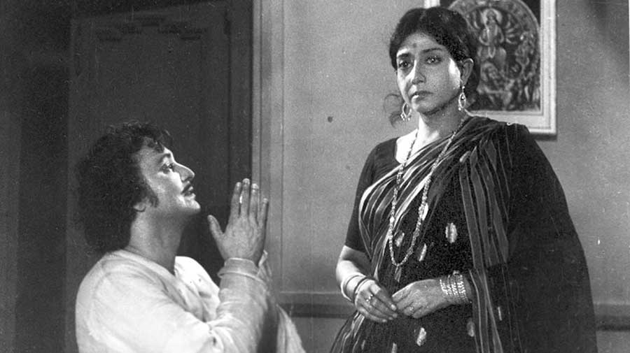With Sabitri Chatterjee  in Mantramugdha