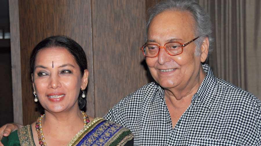 Shabana with Soumitra