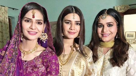 Madiha Imam (left) with her two elder reel sisters in the show Ek Jhoothi Love Story.