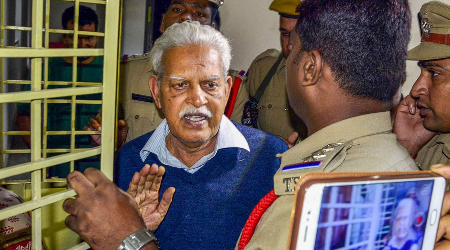 Varavara Rao in a file picture dated August 30, 2018.