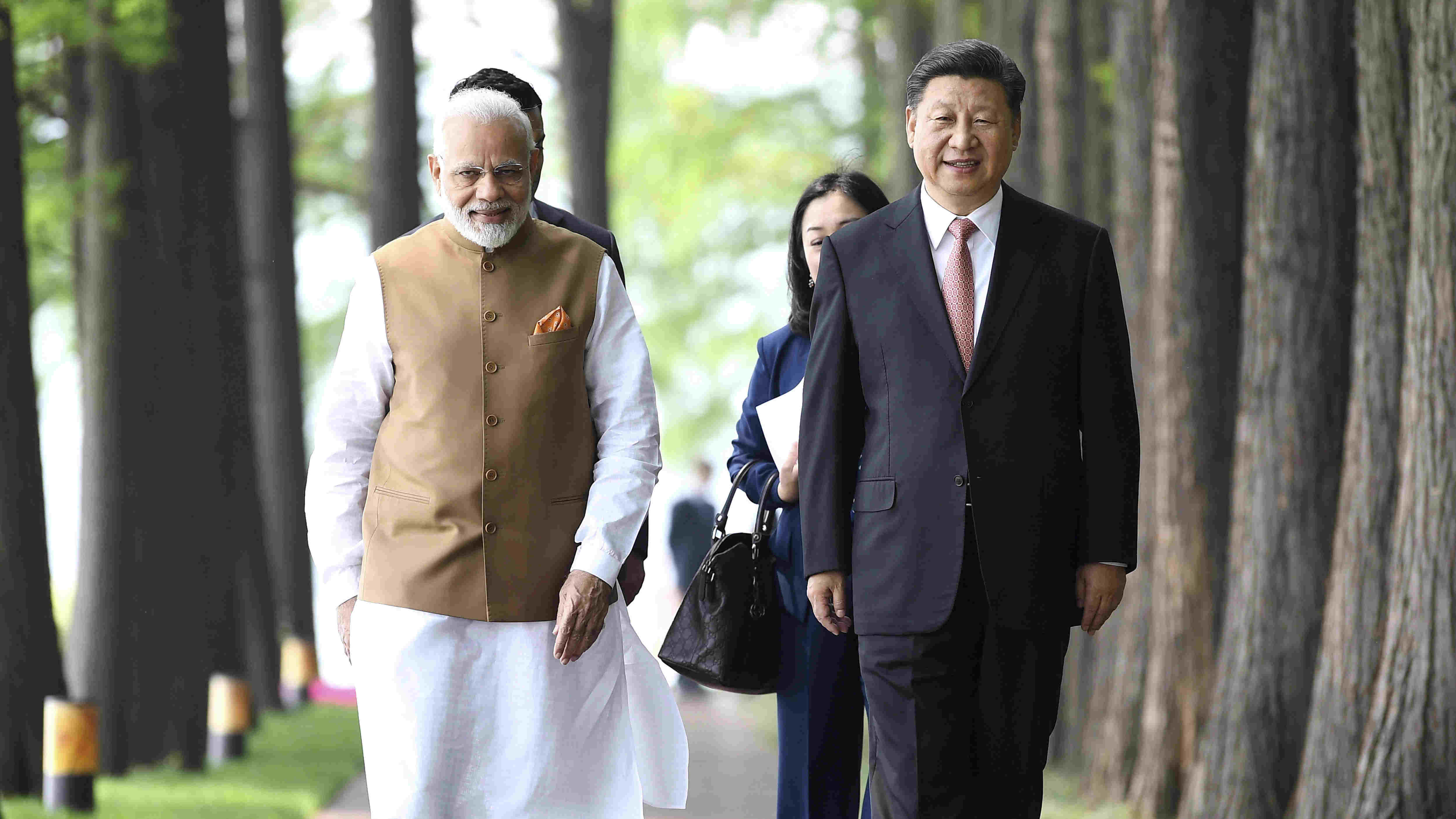 Narendra Modi with Xi Jinping at Wuhan in April 2018.