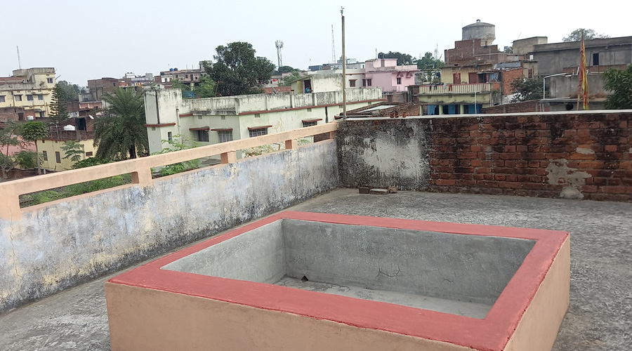 Rooftop tank in Hazaribagh on Thursday.