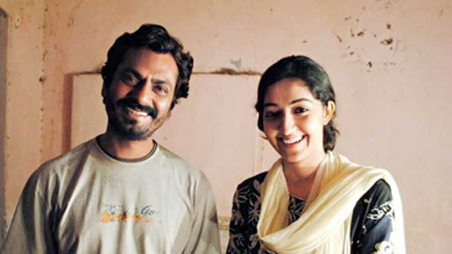 Nawazuddin Siddiqui with Amrita on the sets of Anwar Ka Ajab Kissa, which streams on Eros Now from today