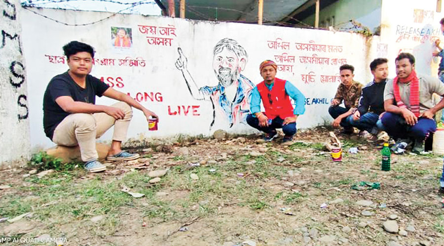 The graffiti and slogans in Barpeta and Golaghat districts