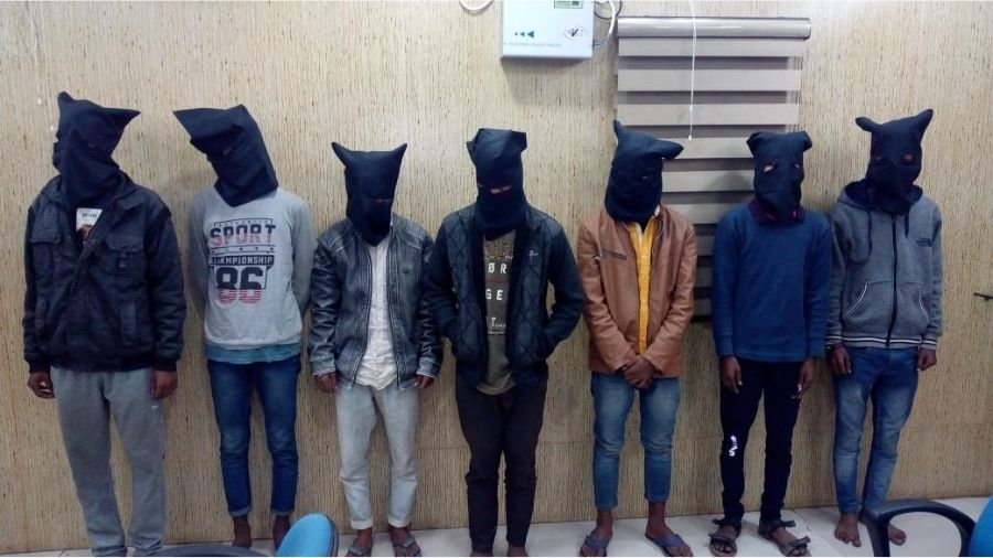 The seven accused who were arrested in Hazaribagh.