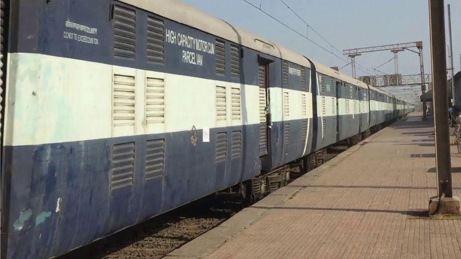 Kisan special cargo express train at Sangola.