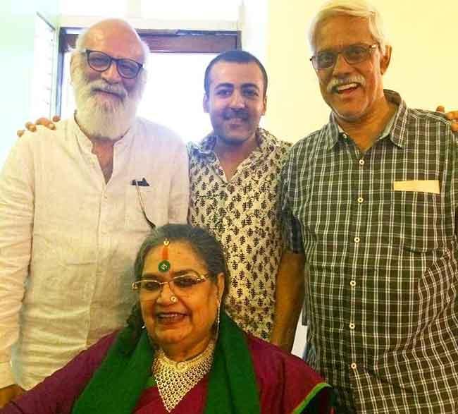 Susmit Bose with Jaimin Rajani, Nondon Bagchi and Usha Uthup