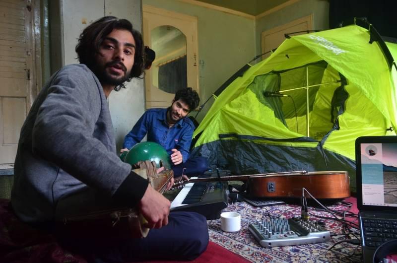 Numaan and Furqan jamming at their house in Pulwama