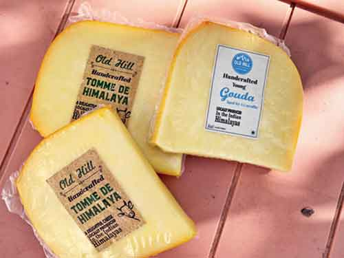 Young cheesemaker Nitin Dayalu has his brand of cheese called Old Hill. Trained in Auroville and then in the Netherlands, he produces some excellent Tomme and Gouda