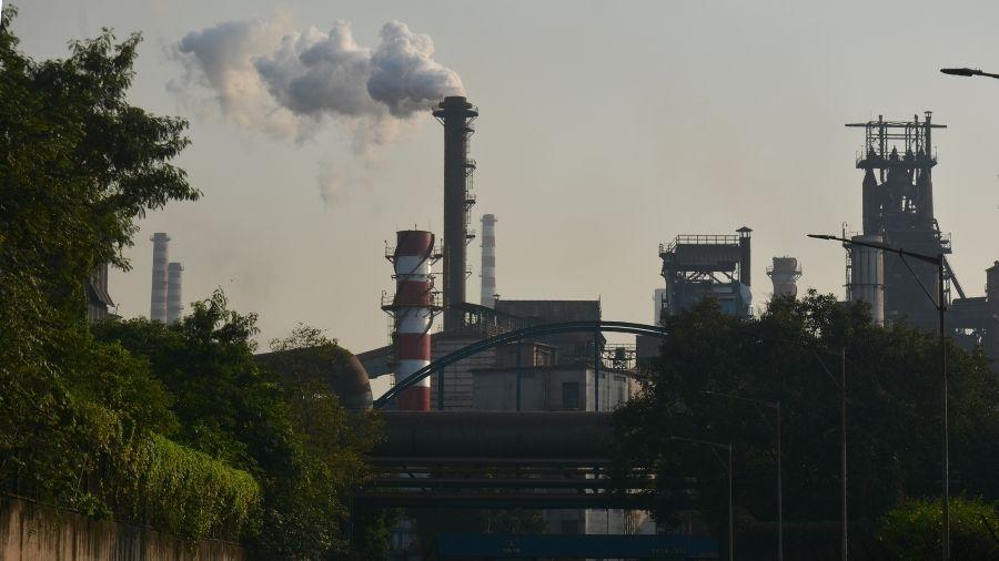 Tata Steel's plant in Jamshedpur on Sunday.