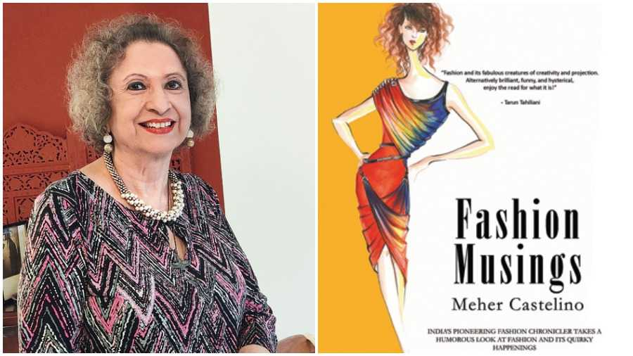 Meher Castelino (Left to Right) and her book Fashion Musings