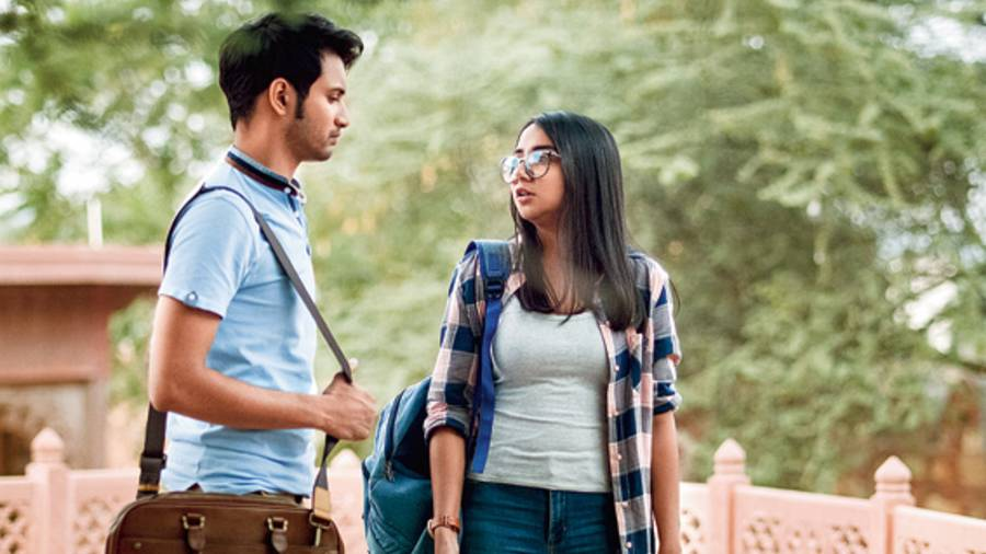 Rohit Saraf and Prajakta Koli in Mismatched, currently streaming on Netflix